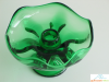 Emerald Viking Glass Candle Holder
