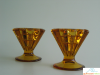 Amber Viking Glass Candle Holders