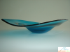 Blue Glass Low Bowl