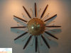 Walnut Starburst Wall Clock