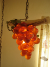 Lucite Grapes Swag Light