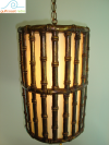 Mid Century Faux Bamboo Lamp